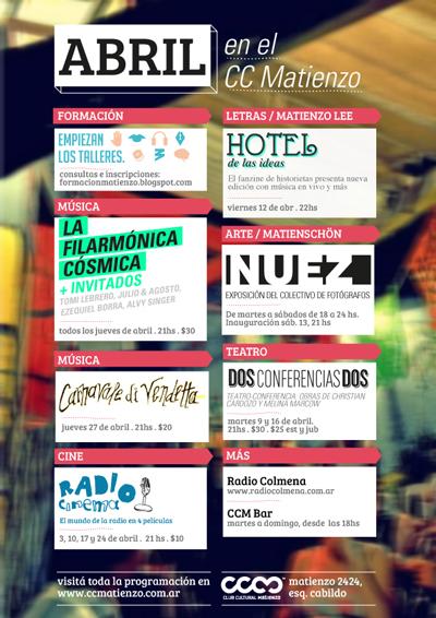 Club Cultural Matienzo, actividades destacadas